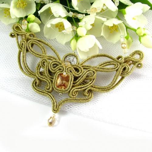 Naszyjnik ażurowy w kolorze złotym