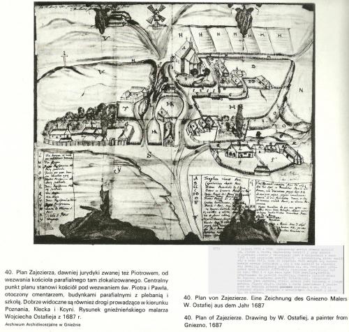 Gniezno widoki Miasta 1505-1939 Autor: Stanisław Pasiciel 1989 Zajezierze rok1687 str.62 #Gniezno