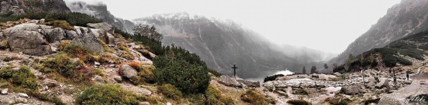 Czarny Staw, w dole M Oko #góry #krajobraz #tatry
