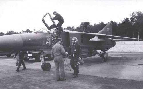 Rosyjskie MiG-i 23 w Łasku