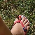 Jeszcze wakacyjne motyl moja stopa nic więcej #kolczyki #mandarynka #pierwsze