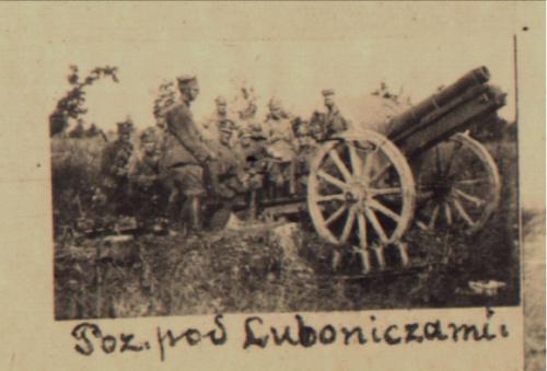 artylerzyści pod Luboniczami