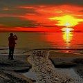 ...no, bo kto rano wstaje, temu Bóg widoki daje #morze #zatoka #wschód #sunrise #sea #bay #photographer